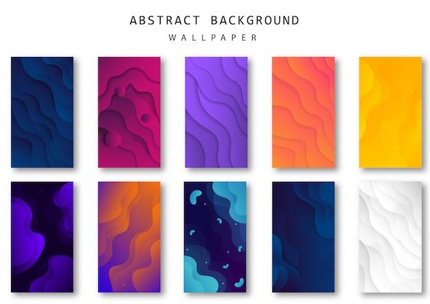 Sfondo astratto onda con forme colorate