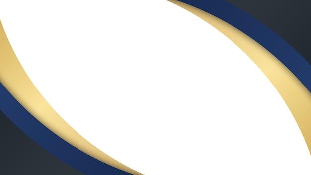 Priorità bassa astratta dell'onda con effetto dinamico. illustrazione di movimento in colore blu e oro. gradienti alla moda.