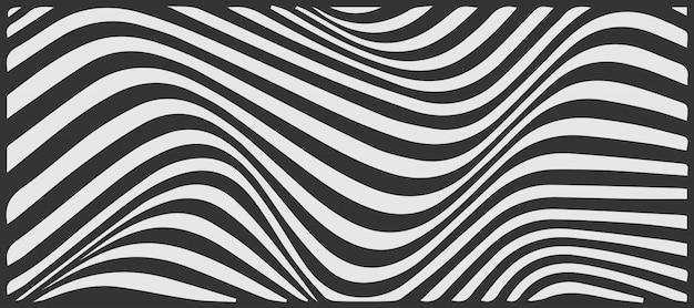 Linea in bianco e nero dell'onda astratta progettazione del fondo del modello
