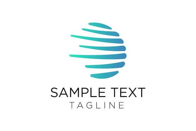 Concetto di design di onda astratta tecnologia logo