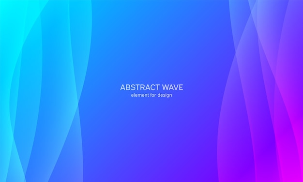 Elemento onda astratta per il design. blu. equalizzatore digitale della traccia di frequenza. Vettore Premium