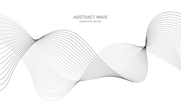 Elemento astratto onda per il design. equalizzatore digitale di tracce di frequenza. sfondo arte linea stilizzata.