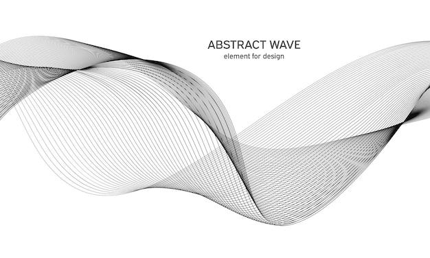 Elemento onda astratta onda con linee create utilizzando lo strumento di fusione