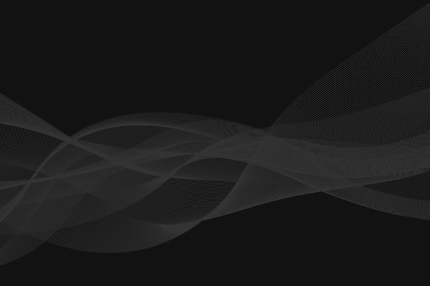 Fumo di flusso di onda astratta su sfondo scuro