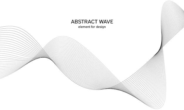 Elemento isolato onda astratta per design