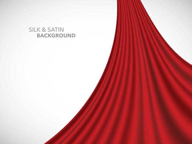Tessuto in raso di seta a onde astratte per la cerimonia di inaugurazione