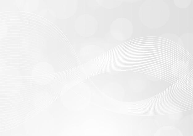 Linee lucide di sfondo sfumato di colore bianco e grigio onda astratta