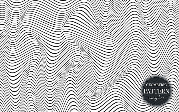 Linea d'ondeggiamento astratta fondo del modello.