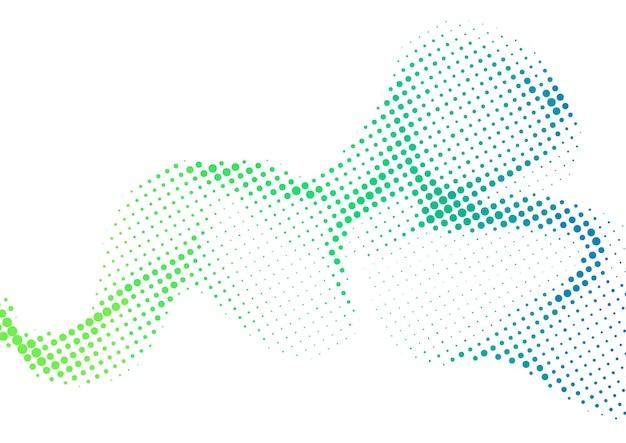 Sfondo di mezzitoni con punti sfumati colorati ondulati astratti, design di sfondo mezzitoni