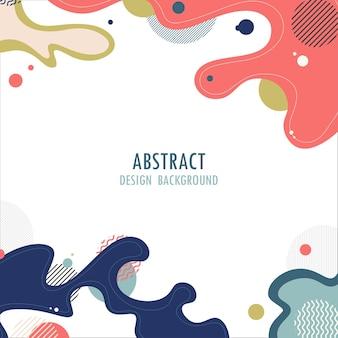 Opere d'arte di design di elementi ondulati astratti di copertina con motivo geometrico
