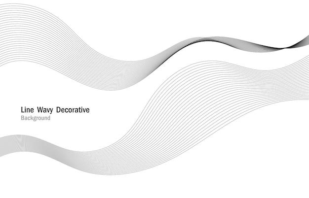 Modello decorativo della banda del modello di linea ondulata astratta. fondo bianco dell'opera d'arte di presentazione. illustrazione vettoriale