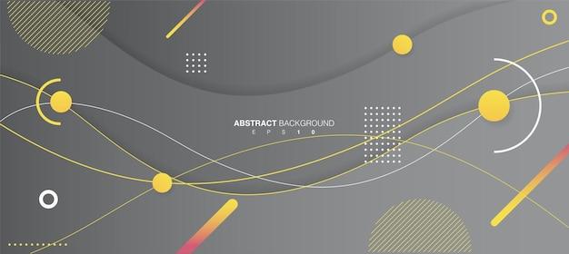 Illustrazione di sfondo astratto forme ondulate