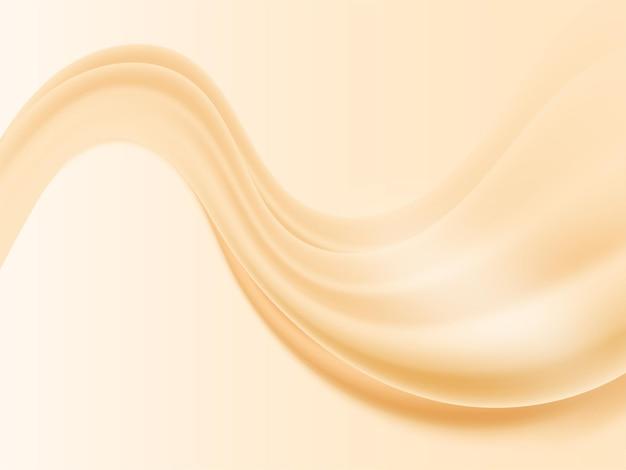 Astratto sfondo di seta ondulata in colore arancio pastello.