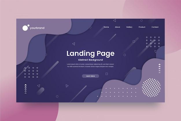 Progettazione del sito web astratta o modello della pagina di destinazione