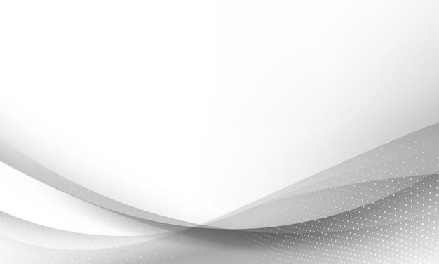 Sfondo bianco astratto dinamico.