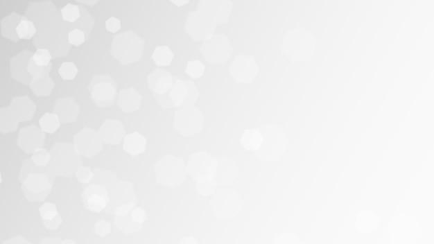 Illustrazione vettoriale astratto sfondo bianco con luci bokeh per eventi festivi Vettore Premium