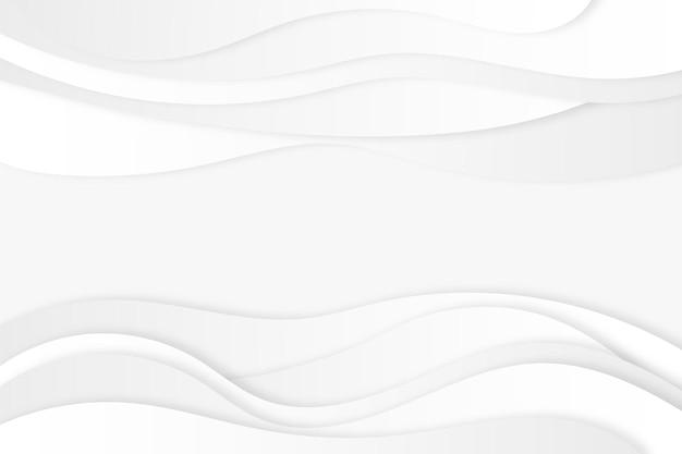 Sfondo bianco astratto con linee ondulate dinamiche