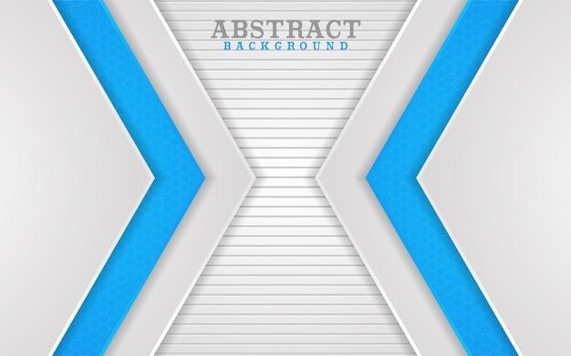 Disegno di sfondo astratto combinazione di linee bianche e blu