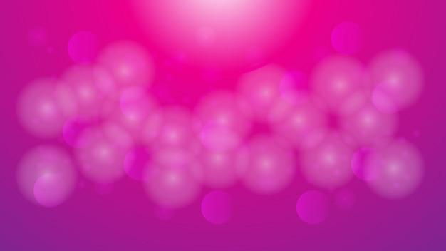 Bokeh sfocato bianco astratto su sfondo di colore sfumato rosa e viola per il design decorativo