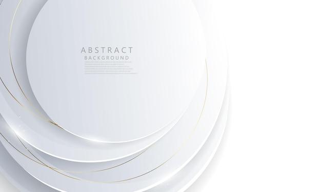 Manifesto astratto del fondo del cerchio bianco con dinamico. rete tecnologica