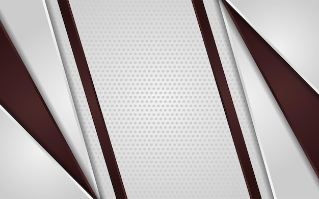 Fondo astratto di struttura del punto bianco con marrone sfumato Vettore Premium