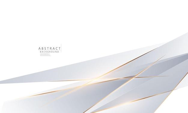 Bellezza astratta del manifesto del fondo dell'oro bianco con dinamica. rete tecnologica