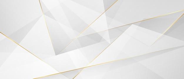 Manifesto astratto del fondo dell'oro bianco con dinamico. rete tecnologica