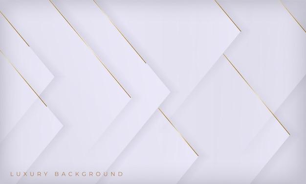 Fondo di lusso di linee bianche e dorate astratte