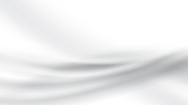 Astratto sfondo grigio bianco sfondo in raso di seta bianco wave texture liscia sfondo