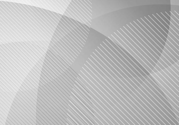 Cerchi geometrici astratti bianchi e grigi strato di trasparenza dello sfondo. illustrazione vettoriale