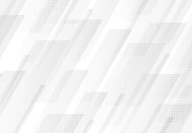 Fondo bianco e grigio astratto di progettazione di tecnologia del rettangolo