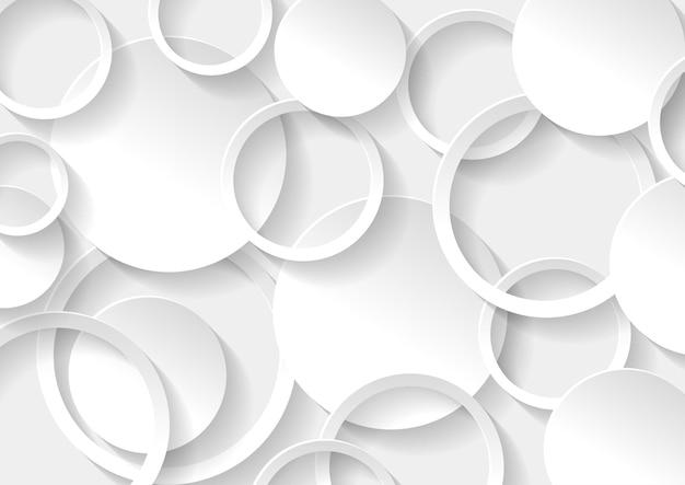 Struttura astratta del fondo del cerchio bianco e grigio, modello geometrico del fondo