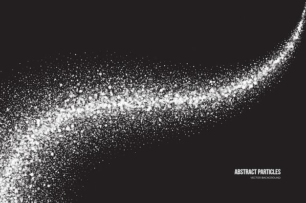 Fondo di vettore delle particelle rotonde di luccichio bianco astratto