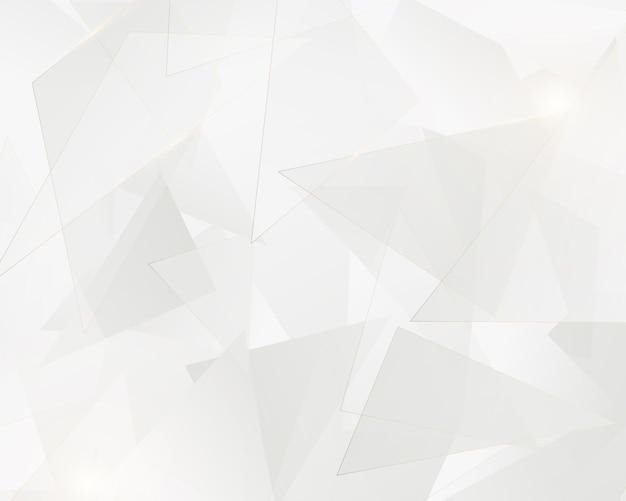 Triangoli bianchi astratti geometrici con linee dorate. concetto di lusso. illustrazione vettoriale