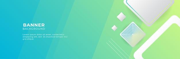 Ampio sfondo astratto banner con forme geometriche, strisce, onde ed elementi digitali tecnologici