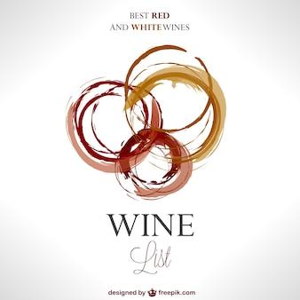 Carta dei vini con macchie teplate vettore
