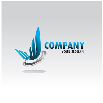 Abstract wing logo company
