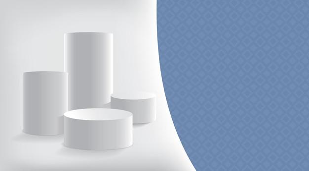 Astratto con presentazione del prodotto di forme geometriche