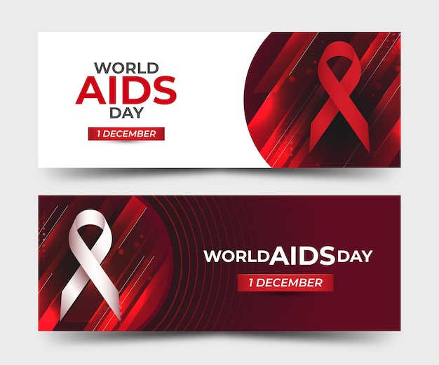 Bandiere astratte della giornata mondiale contro l'aids