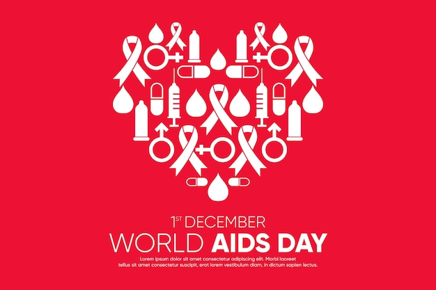 Cuore astratto di giornata mondiale contro l'aids