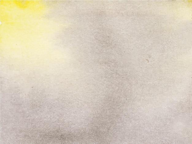 Fondo nero giallo astratto dell'acquerello, pittura a mano.
