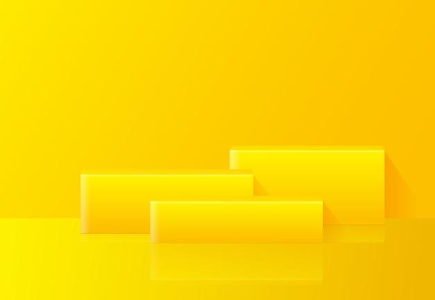 Composizione gialla astratta con design podio