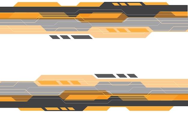 Tecnologia geometrica cyber grigia gialla astratta su fondo futuristico moderno di progettazione bianca
