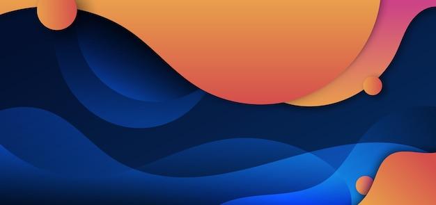 Forma fluida gialla e arancione astratta