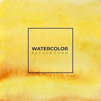 Priorità bassa gialla astratta dell'acquerello. è disegnato a mano.
