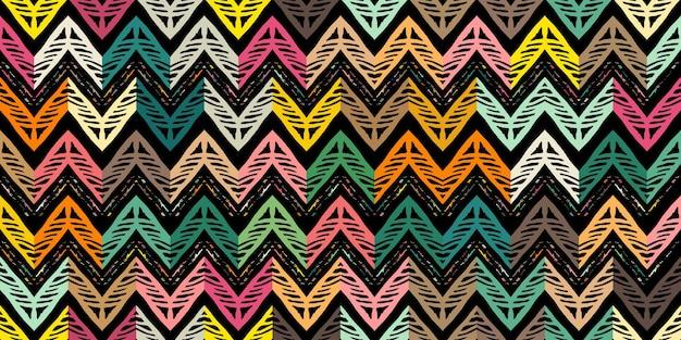 Motivo a zigzag astratto per il design della copertina. sfondo vettoriale retrò chevron. decorativo geometrico senza soluzione di continuità