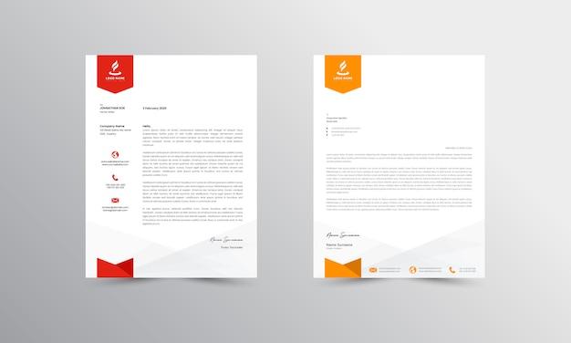 Modello moderno di progettazione della carta intestata di affari di progettazione della carta intestata di abtract - vettore