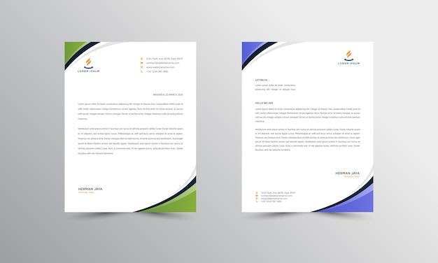 Modello moderno di progettazione della carta intestata di affari di progettazione della carta intestata di abtract