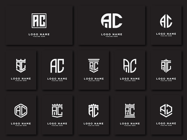 Iniziale ac lettere logo se modelli iniziali