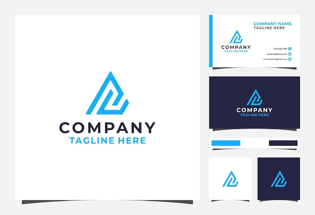 Logo triangolo lettera ac e biglietto da visita